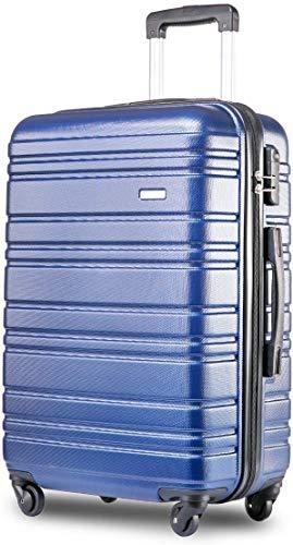 MIERES Lichtgewicht Harde Shell 4 Wheel Travel Trolley koffer Bagage Set Holdall Cabin Case voor Business Outdoor Activiteit Luchtvaart Reizen Camping (24