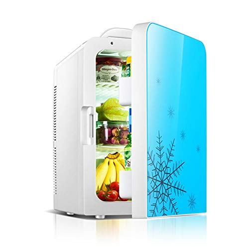 JOMSK Hielo refrigerador Portable y Calentador eléctrico de Hielo en el Pecho Mini refrigeración Calentamiento Enchufe Coche de refrigerador for Camping, Pesca Refrigerador Electrico