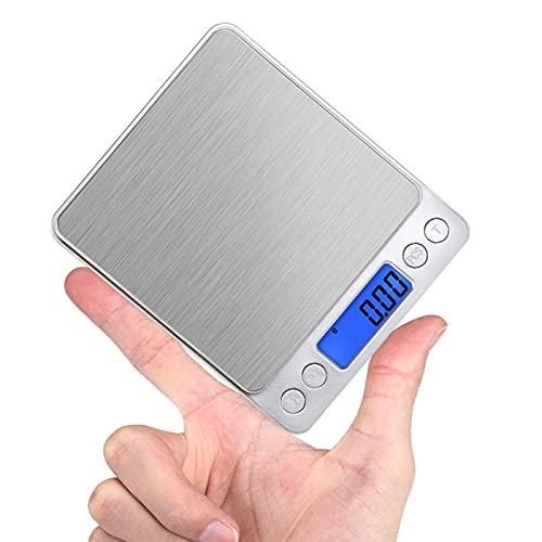 JSJJAUJ Corporal Báscula 2kg / 3kg / 500g 0.1/0.01g Escala Digital Balanza electrónica Balanza de Cocina (Color : 2KG 0.1G)