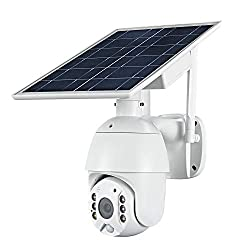 100% Wire-Free Wireless Rechargeable Battery Solar Powered Outdoor 1080P Pan Tilt WiFi Security Camera