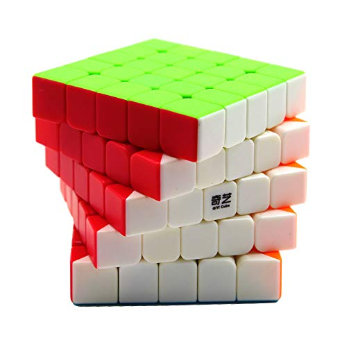 Moruska Qiyi 5x5 Speed Cube Stickerless 5X5X5 Cube Puzzle Toy 62mm - Qiyi Qizheng S