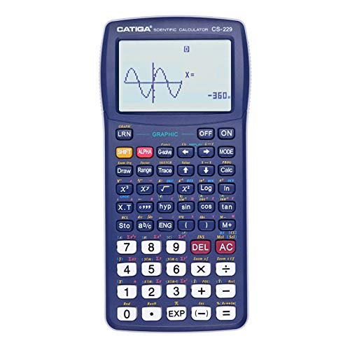 Scientific Calculator with Graphic Functions  Multiple Modes with Intuitive Interface  Perfect for Beginner and Advanced Courses High School or College CATIGA CS229