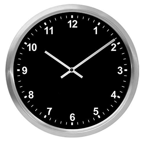Zeit-Bar Funkwanduhr mit Analoganzeige, Alu/Kunststoff