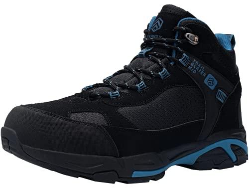 DURA-ANTISKID Botas de Seguridad Punta compuesta Hombre Botas de Trabajo SRC S1P Zapatos de Seguridad Zapatillas de Seguridad (Negro Azul,39EU)