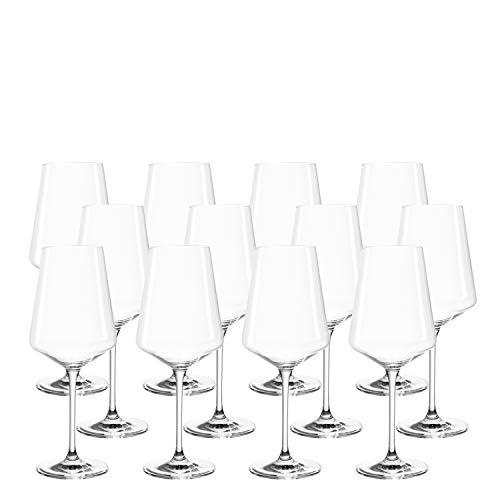 LEONARDO HOME Set aus 12 Weißweingläser Puccini, Weingläser, Teqton-Kristallglas, spülmaschinenfest