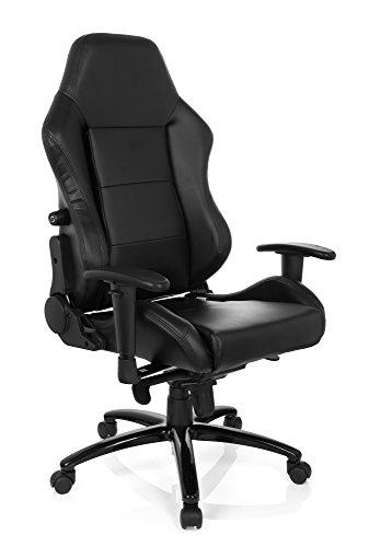 Gaming Stuhl/Bürostuhl Sportsitz INDY II Kunstleder schwarz hjh OFFICE