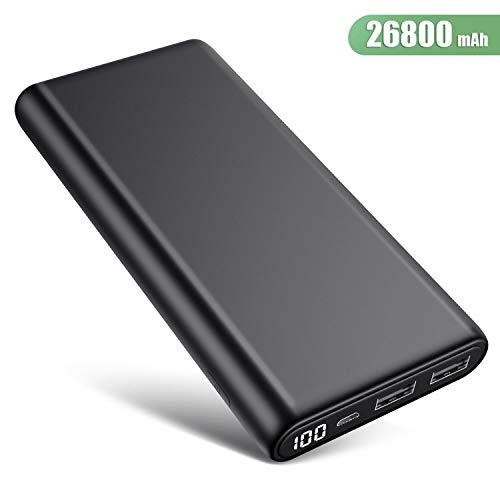 Trswyop Batterie Externe 26800mAh, Chargeur Portable【Version Améliorée Ecran LCD 100%-0】 Haute Capacité 2...