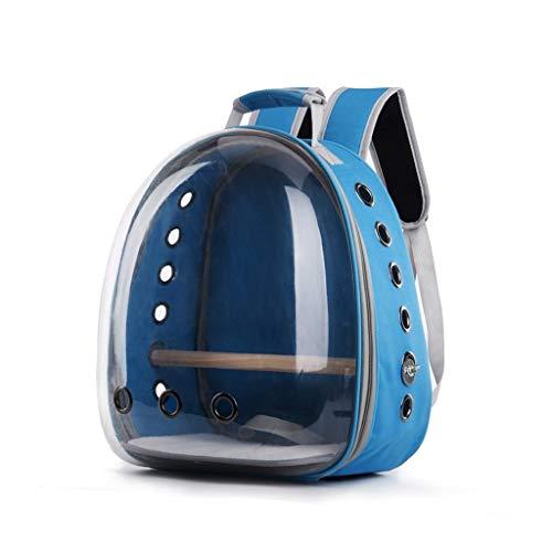 KGDC Gabbia Voliera per Uccelli Pet Carrier Backpack, Gatto Cane Uccello Spalla Zaino Carrier, Innovativo panoramica Spazio Trasparente Portable Pet Capsule Uccelli Gabbie (Color : D)