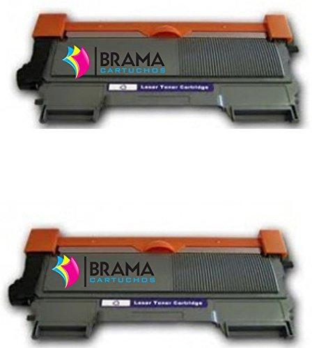 Bramacartuchos Confezione di 2 toner, compatibili con Brother TN-2010, non OEM, ad alto rendimento (2.600 copie), per stampanti HL2130, HL2310, DCP7055