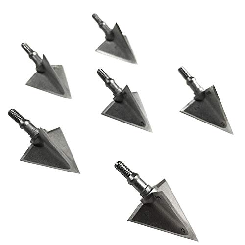 JIANZD 3 Blades Hunting Broadhead 100 Grain Archery Arrow Screw-in Arrow Heads Arrow Tips Compatible with Traditional Bows and Compound Bow