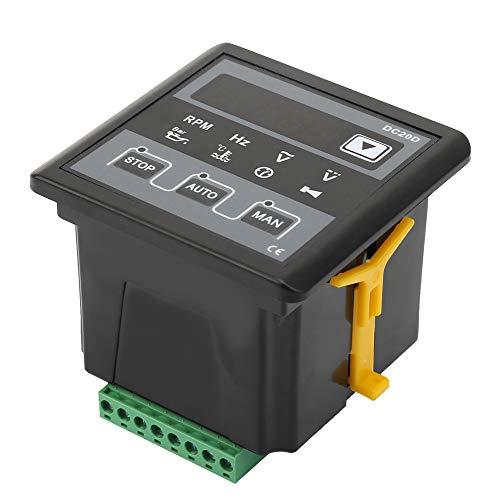 Panel de control del generador DC20D Indicación rápida Módulo de control del generador electrónico estable DC 8-36V Arranque/parada automático Control por microordenador para generador