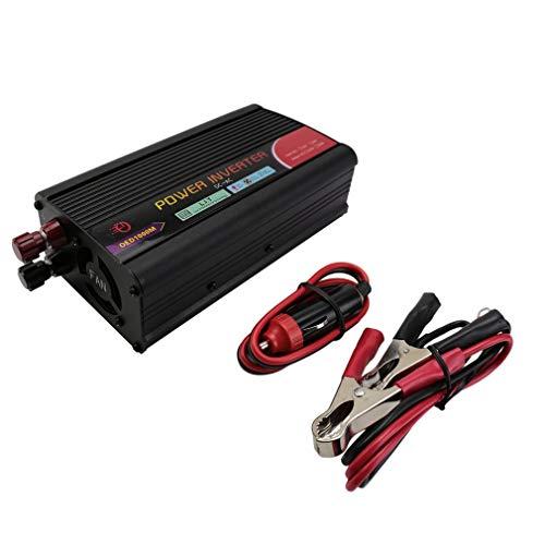 Tamaño Compacto Dc12V A AC 110V Adaptador De Inversor De Corriente Cargador Interruptor De Encendido 1000W Negro