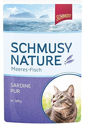 Schmusy Katzenfutter  Sardine Pur 100 g, 24er Pack (24 x 100 g)
