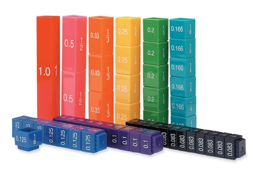 Learning Resources (UK Direct Account) LER2509 Learning Resources Fraction Tower Equivalency Cubes, Set of 51