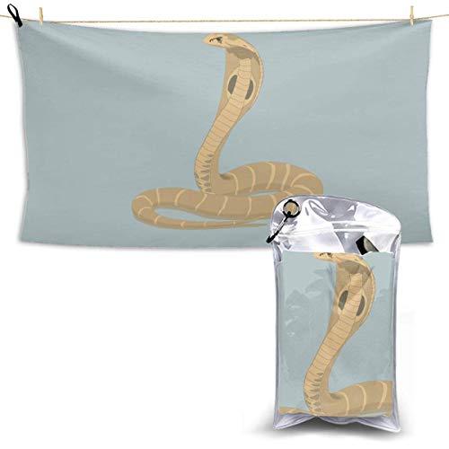 RTRTRT Toalla de baño de secado rápido, toallas de playa suaves y absorbentes, serpiente cobra real para acampar, hacer mochileros, hacer ejercicio en el gimnasio, viajar, nadar, hacer yoga 28,7 'x 51