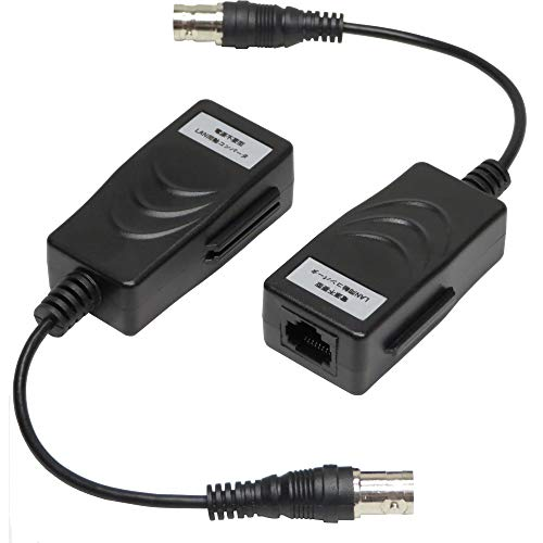 LPS 電源不要型LAN同軸コンバータ 同軸ケーブルでIPカメラ、ハブ、ルーターなどのネットワーク機器を200mまで配線可能 通信速度10/100Mbps 雷サージ内蔵 LPS-EOC102