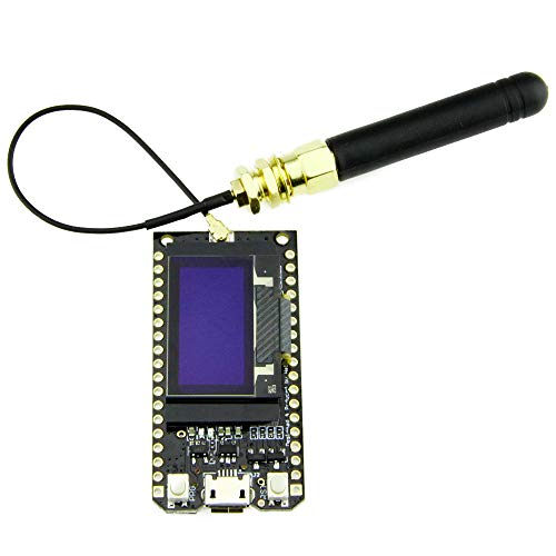 TOOGOO Bluetooth WiFi Esp-32 Módulo De Placa De Desarrollo Lora32 Lora 868Mhz Esp32 Lora OLED 0.96 Pulgadas Pantalla Azul con Antena