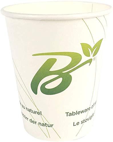 SDG Lot de 50 gobelets en papier compostable (270 ml) pour boissons chaudes et froides et café
