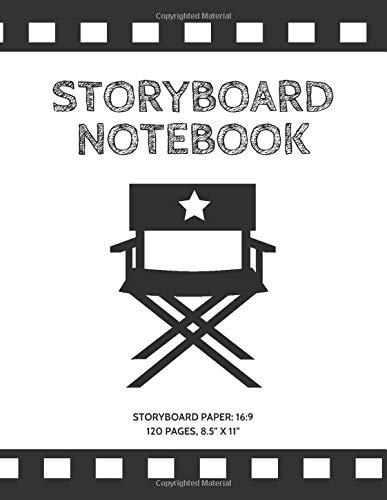Storyboard Notebook: Storyboard Paper 16:9,120 pages 8.5