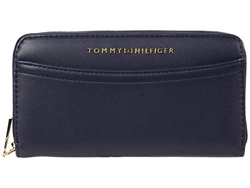 Tommy Hilfiger Hazel Large Smooth Grain PVC Zip Wallet Tommy Navy One Size