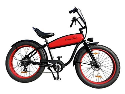 GermanXia Black Sinner 26 Chopper, color rojo y negro, tamaño 17,5Ah/ 720Wh
