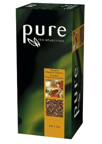 Tee Rooibos Orange & Karamell aus der PURE Tea Selection, 6 x 25 Sachets