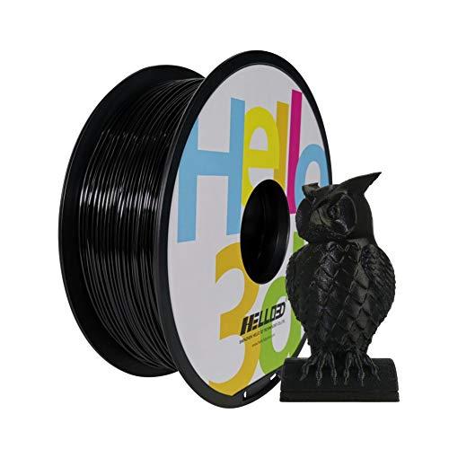 Hello3D PETG Filament 3D Printer Filament, 1.75mm, 2.2Lbs per Spool, PETG Black