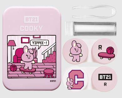 BTS BT21 - Estuche para lentes de contacto de mercancía oficial + tarjetas de fotos...