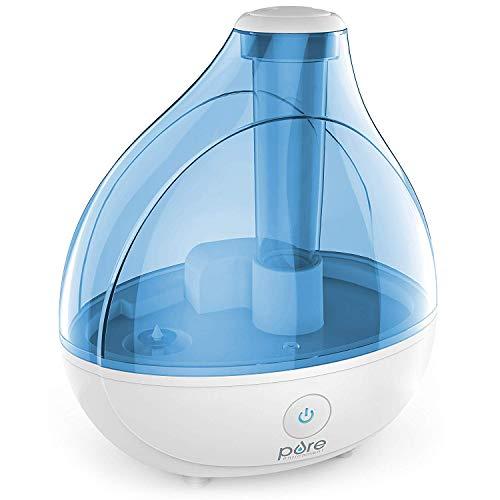 Pure² Enrichment MistAire Ultraschall-Luftbefeuchter mit kühlem Nebel - Premium Befeuchtungseinheit mit 1,5 l Wassertank, Flüsterleiser Betrieb, automatischer Abschaltfunktion und Nachtlicht-Funktion