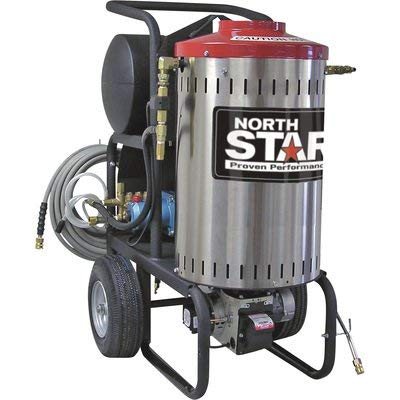 NorthStar Electric Wet Steam and Hot Water Portable Pressure Power Washer - 2000 PSI, 1.5 GPM, 120 Volt, Model Number 157307