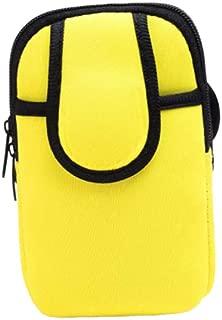 SUPVOX Outdoor Sports Armbag Sweatproof Running Package Bag Waterproof Armband Gym Fitness Phone Bag Keys Bag (Yellow)