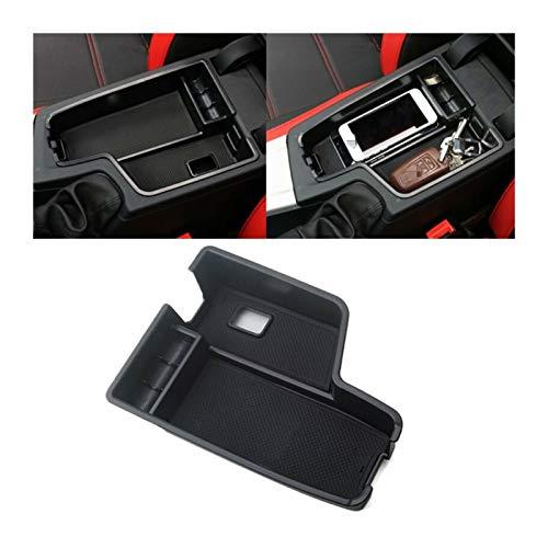 ZHANGWW ZWF Store Caja de Almacenamiento de la Consola del Centro de Coches Caja de Almacenamiento Black Plastic Bandet Funda para BMW 3 Series F30 2013-2016 Caja de Almacenamiento de automóviles