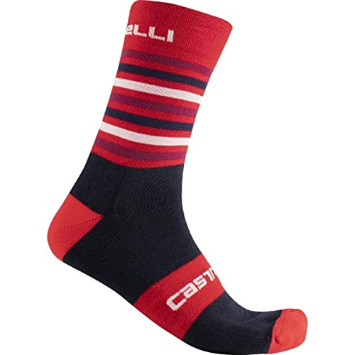 castelli Gregge 15 Sock, Red Savile Blue, L-XL