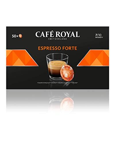 Café Royal Espresso Forte 50 Nespresso®* Pro kompatible Kapseln (Intensität 7/10) 1er Pack (1 x 50 Pads)