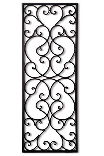 T.Y. Cooper LLC Wrought Iron 32' x 12' Rectangle Wall Grille