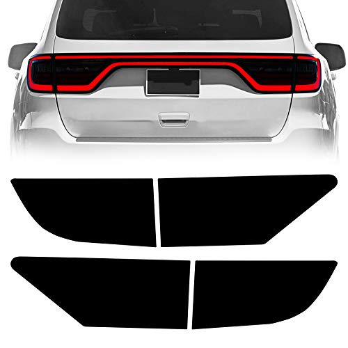NDRUSH Blackout Taillight Vinyl Tint Film Precut Overlay Tail Light Wrap Cover Compatible with Dodge Durango 2014-2021