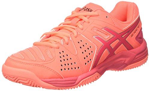 Asics Gel-Padel Pro 3 SG, Zapatillas de Gimnasia Mujer, Naranja (Flash Coral/Rouge Red/Silver), 39.5 EU