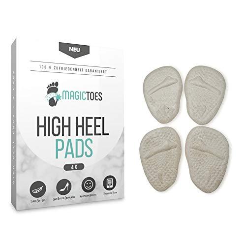 MAGICTOES ® Unsichtbare High Heel Pad's für Frauen | Super Softe Gel Einlagen mit Anti Rutsch Beschichtung | Innovative Schweißabsorbierung mit starkem Komfort|