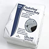 HydraTarp 12 Ft. X 24 Ft. Premiumr Heavy Duty Waterproof Tarp - 18mil Thick - White / Brown Reversible Tarp with D-Rings