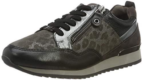 CAPRICE Damen Ginga Sneaker, Grau (Grey Leo Comb 294), 37 EU