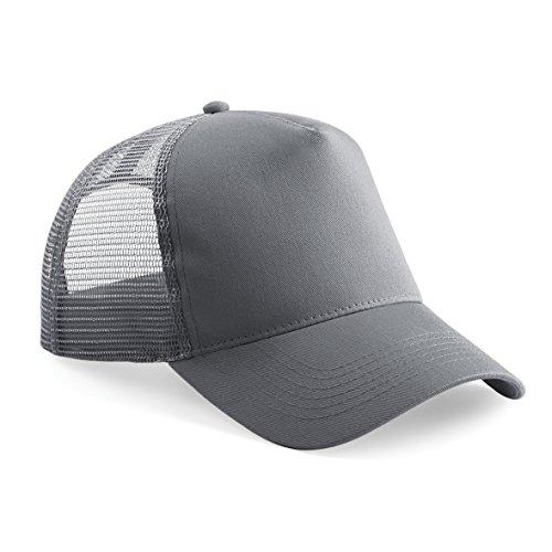Beechfield, Trucker-Cap für Herren, zur Hälfte aus Netzstoff Gr. Einheitsgröße, Graphit grau/graphit grau
