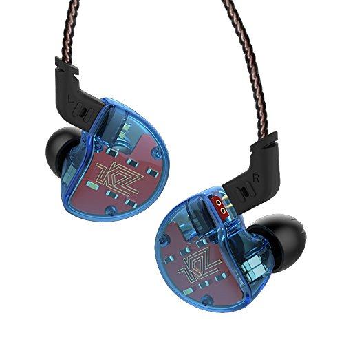 Fone de Ouvido Kz Zs10 Monitor Retorno de Palco 5 Drivers Hifi Cabo Destacável (Sem Mic Azul)