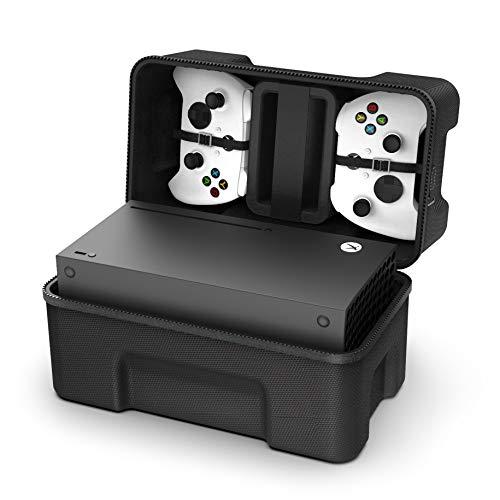 SHBC Custodia Rigida Compatibile con Console di Gioco Xbox Series X Kit da Viaggio per Controller Wireless e Cavi