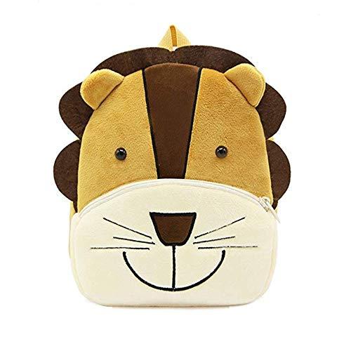 Sacchetto di scuola zaino simpatico cartone animato animale, per bambini bambino Ragazzi ragazze, 2-5 anni, regalo perfetto per bambini, bambini, unisex (Leone) …