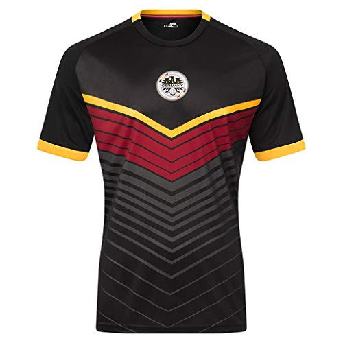 Xara Germany International Series III Soccer Jersey (Large) Black/Red/Gold