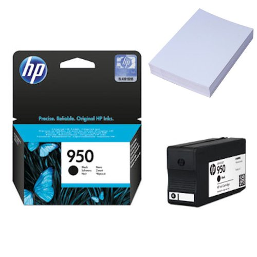 HP 950schwarz Tintenpatrone–Tintenpatronen (schwarz, HP Officejet Pro 8600, Standard, Leuchtmittel, 20–80%, 15–35°C)