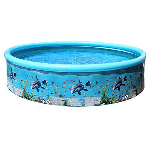 Easy Set Pool - piscine hors terre, piscine familiale, pataugeoire, piscine aux couleurs d'été, piscine pour enfants, boîte de jeux pour enfants de 3 ans et plus, facile à assembler, bleu, 125 * 30cm
