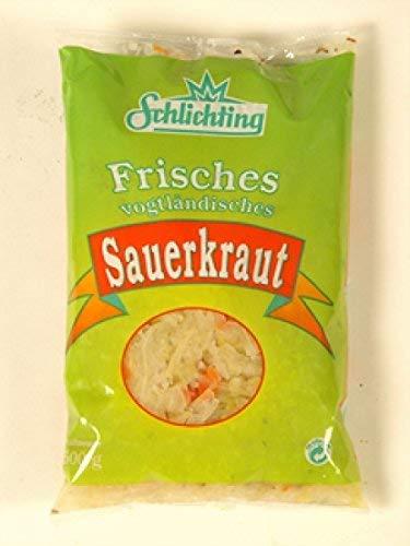 Frisches Vogtländisches Sauerkraut 3x 500g Beutel (nicht pasteurisiert, mit Gewürzen)