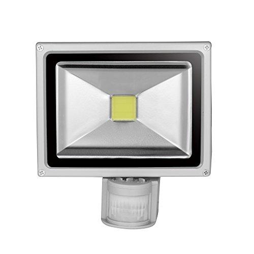 Greenmigo®20W LED LED Flutlicht+ Bewegungsmelder; Scheinwerfer; Innen-Außenstrahler Objektbeleuchtung; Strahler; Flutlicht; wasserdicht IP65 Lampe (Kaltweiß)