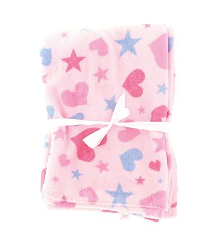 Bieco Baby Kuscheldecke Fleece Rosa   Flauschige Decke   Kuscheldecke Baby   Kinder Kuscheldecke   Dünne Decke Flauschig   Baby Blanket   Kuscheldecke Kinder   Geschenk zur Geburt Junge- und Mädchen